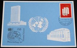 UNO GENF 1982 Mi-Nr. 114 Blaue Karte - Blue Card Mit Erinnerungsstempel BASEL - Lettres & Documents
