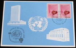 UNO GENF 1982 Mi-Nr. 117 Blaue Karte - Blue Card Mit Erinnerungsstempel GENF - Lettres & Documents