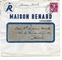 """SH 0991. N° 724N DEPÔT-RELAIS LAVACHERIE * 21.VII.1946 ¨s/Lettre """"Maison Renard - Lavacherie"""" Vers Bruxelles. - 1946 -10%"""