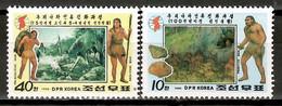 Korea North 1990 Corea / Prehistory MNH Prehistoria Prähistorie / Ht27  7-8 - Prehistory
