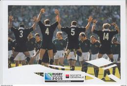 RT31.250  DEUX CARTES COUPE DU MONDE DE RUGBY 2015 - 2003 -1995-  PUB DE LA SOCIETE GENERALE - Rugby