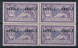 EC-706: FRANCE: Lot Avec N°144CI1 Gomme 2ème Choix Bloc De 4 - Corsi Di Istruzione