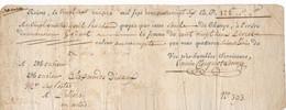 EC-707: FRANCE: Lot Avec Doc Du 27/3/1784 - Cambiali