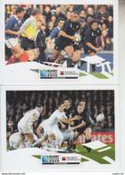 RT31.252 COUPE DU MONDE RUGBY FRANCE NOUVELLE ZELANDE  1999 ET 2011 .PUBLICITE SOCIETE GENERALE - Rugby