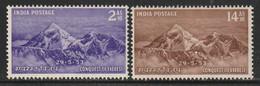 INDE - N°44/5 ** (1953) Conquête Du Mont Everest - Unused Stamps