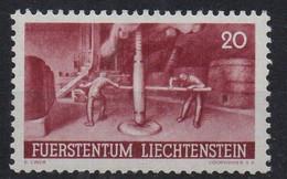 LIECHTENSTEIN - 1941 - AGRICULTURE - VIGNERON - VIN - OENOLOGIE - OENOLOGY - WINE - WINE MAKING - 20 - - Unused Stamps