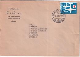 SUISSE - 1956 - Zum.327 Sur ENVELOPPE De L'HOTEL ERZHORN à AROSA => COLMAR - Covers & Documents