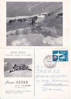 SUISSE - 1956 - Zum.327 Sur CARTE-LETTRE ILLUSTREE ! De L'HOTEL GSPAN à AROSA => COLMAR - Covers & Documents