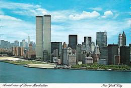 2 AK USA New York * Blick Auf Manhattan - Noch Mit World Trade Center - 2 Luftbildaufnahmen * - World Trade Center