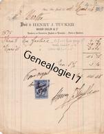 75 24305 PARIS SEINE 1876 Fonderie HENRY J. TUCKER De La MAISON CALSON Caracteres Anglais Et Francais - 1800 – 1899