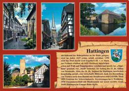 1 AK Germany / NRW * Chronikkarte Von Hattingen Mit Wappen, Partie A. D. St. Georgskirche, Wasserburg, Burg Blankenstein - Hattingen