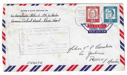 87 JDA - LA RESOLUE - CROISEUR PORTE HELICOPTERES - VISITE DE LA FLOTTE FRANÇAISE à HAMBOURG - Avril 1964 (TP Allemands) - Naval Post