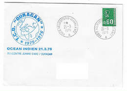 89 JDA -PORTE-HÉLICOPTÈRES JEANNE D'ARC -  GEAOM 1975 - 1976 - RENCONTRE AVEC LE TCD OURAGAN   21-03-1976 - Naval Post