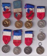 Lot 9 Médailles Du Travail Dont 7 Avec Ruban - Andere