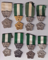 Lot De 8 Médaille Du Travail - Collectivités Locales - Andere