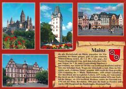 1 AK Germany / Rheinland-Pfalz * Chronikkarte Von Mainz Mit Wappen * - Mainz