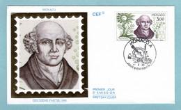 FDC Monaco 1990 - Découverte De L'homéopathie - S. Hahnemann - YT 1739 - FDC