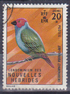New Hebrides - 1977 - Fauna - Bird - Passerines - Green-blue Diamond Or Royal Pope Or Pope Of Samoa - Oblitéré - Used - Gebruikt
