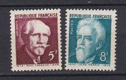 N° 820 Et 821 Transfert Au Panthéon Des Cendres De: Langevin Et Perrin  Beaux Timbres Neuf Impeccable Sans Charnière - Unused Stamps