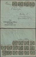 Allemagne 10 Novembre 1923. Lettre Mi 321 X 20, Tarif National 5 Au 12 Novembre. 1 Milliard, Leipzig à Berlin. Cote 50€ - Infla