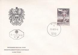 ÖSTERREICH. ÖSTERREICHISCHER FACKELLAUF OLYMPISCHE SPIELE 1972. 121.8.1972 FDC ENVELOPPE.- LILHU - Verano 1972: Munich