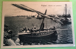 Trapani Marina Con Pescatori Nuova Non Viaggiata - Trapani