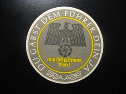 Fuhrer Eagle + Swastika GERMANY Poster Stamp Vignette Label - Zonder Classificatie