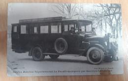 Cpa Service Autobus Départemental Le Faouet Quimperlé Par Querrien Lanvénégen - Faouët