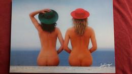 CPM PIN UP 2 FEMMES NUES NU DE DOS ED COMBIER FEELING TOUT POUR PLAIRE PHOTO VLOO - Fotografía