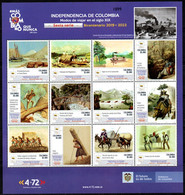 A626B - KOLUMBIEN - 2021- MNH- INDEPENDENCE 6TH ISSUE - WAYS OF TRAVELING IN THE XIX CENTURY - Kolumbien