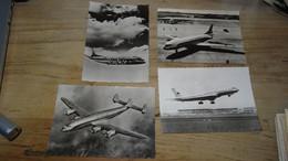 Dans Le Ciel De France : Lot De 4 Cartes: Constellation, Caravelle, Tupolev, Viscount  ............... G736 - 1946-....: Era Moderna