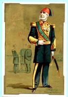 Chromo Epicerie, Comestibles Bertheville, Succ. Costumes Militares, Egypte. Fond Doré. Lith. Appel 1-1-27/7 - Altri