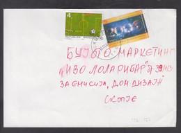 REPUBLIC OF MACEDONIA, COVER - MICHEL 126, 187 - Football, Millenium, Astronomy + - Macedonia