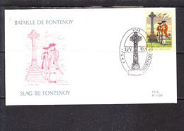 2600 La Bataille De Fontenoy - Soldats Irlandais Au Pied De La Croix - Emission Commune Avec L' Irlande - 1991-00