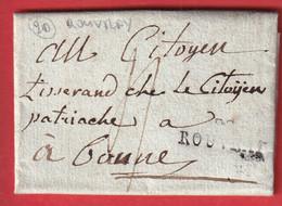 MARQUE 20 ROUVRAI ROUVRAY COTE D'OR 26 FRUCTIDOR AN7 1799 POUR BEAUNE INDICE 14 - 1801-1848: Précurseurs XIX