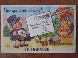Carte A Systeme.  Le Hohneck , Facteur Avec Petite Fille Et Son Chien .  Illustrateur Bozz - Sonstige Gemeinden