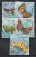 Ukraine - 2005 - N° Mi. 697 à 701 - Papillons / Butterflies - Neuf Luxe ** / MNH / Postfrisch - Schmetterlinge