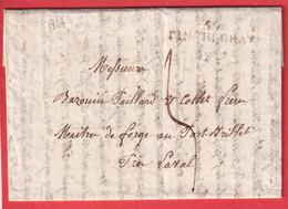 MARQUE 59 TINCHEBRAY 1827 ORNE INDICE 14 PORT BILLET MAYENNE LAVAL - 1801-1848: Précurseurs XIX