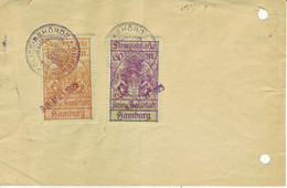 HAMBURG  Wohnungsnachweis Mit Gebührenmarken 1923 - Seals Of Generality