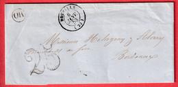 CAD DOUVILLE DORDOGNE TAXE TAMPON 25 OR MONTCLAR POUR BORDEAUX - 1801-1848: Précurseurs XIX