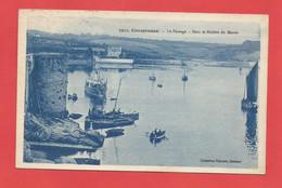 C.P.A.( 29 ) « CONCARNEAU » Le Passage - Pont Et Rivière Du Moros  - Jolie Vue Générale Animée      X2 Phts - Concarneau