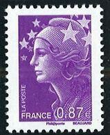 N° 4474 Marianne De Beaujard 2010  Faciale 0,87 € - Nuevos