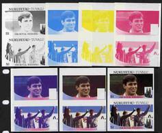 Tuvalu - Nukufetau 1986 Royal Wedding  $1 Set Of 7 Imperf Progressive Proofs Comprising The 4 Individual Colours Plus 2, - Tuvalu