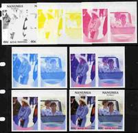 Tuvalu - Nanumea 1986 Royal Wedding  60c Set Of 7 Imperf Progressive Proofs Comprising The 4 Individual Colours Plus 2, - Tuvalu