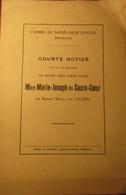 Court Notice Sur La Vie ... Soeur Mère Marie-Joseph Du Sacré-Coeur - Baronne Van Caloen - Brugge - Ukkel Uccle - Ca 1925 - Brugge