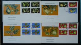 Série De 4 FDC Timbres Officiels 1977 Fruits Polynésie Française Ref 804 - FDC