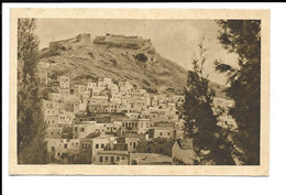 GREECE , POSTCARD OF LERO ISLAND AND CASTLE , 1937 . - Grèce