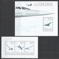 TG653 2013 TOGO TOGOLAISE TRANSPORT AVIATION LE CONCORDE KB+BL MNH - Concorde