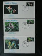 FDC (x3) Orchidées Orchids 1982 Wallis Et Futuna Ref 804 - Orchidées
