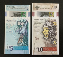 NORTHERN IRELAND SET 5, 10 POUNDS BANKNOTES 2018 UNC Polymer - Ireland